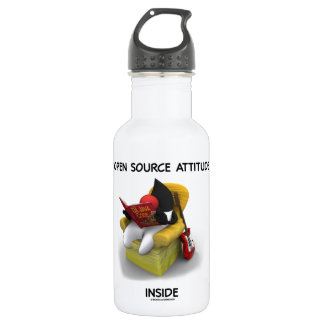 Open Source Attitude Inside (Duke Java Book Chair) Water Bottle