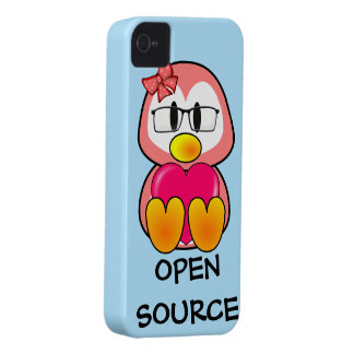 Open Source Chick (Women in Computing Technology) iPhone 4 Cases