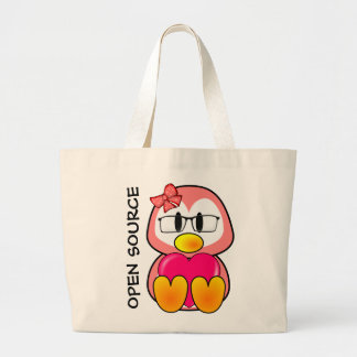 Open Source Chick (Women in Computing Technology) Large Tote Bag