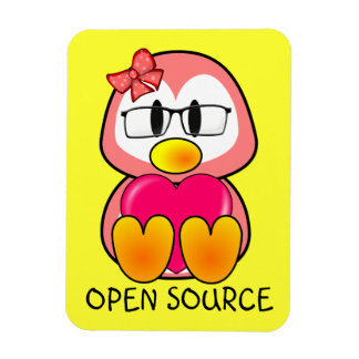 Open Source Chick (Women in Computing Technology) Magnet