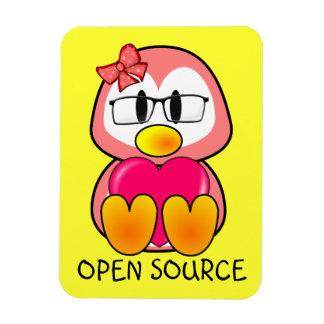 Open Source Chick (Women in Computing Technology) Rectangular Photo Magnet