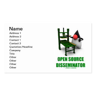Open Source Disseminator (Java Duke Gutenburg) Business Card
