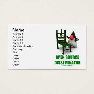 Open Source Disseminator (Java Duke Gutenburg) Business Card