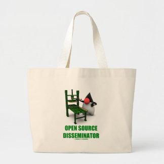 Open Source Disseminator (Open Source Duke) Large Tote Bag