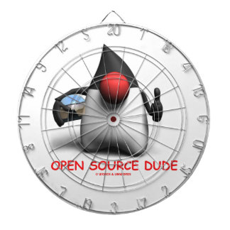 Open Source Dude (Software Developer Duke) Dart Boards