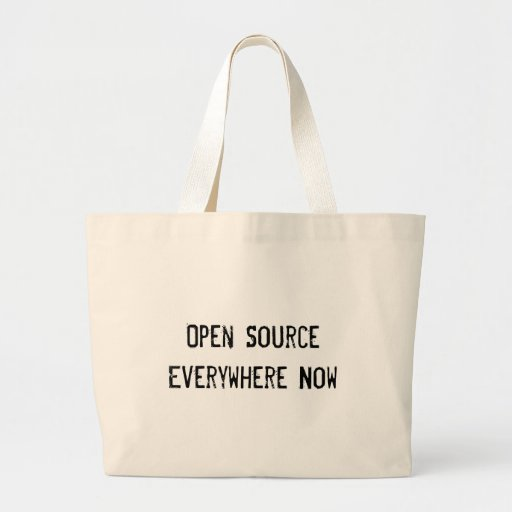 Open Source Everywhere Now Tote Bags
