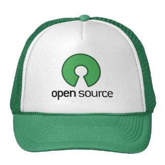 open source green trucker hat
