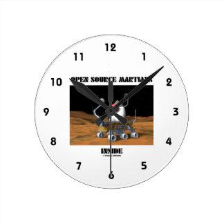 Open Source Martians Inside (Duke Rover) Round Clock
