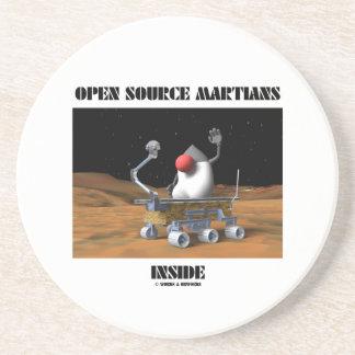 Open Source Martians Inside (Duke Rover) Drink Coaster
