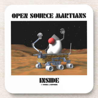 Open Source Martians Inside (Duke Rover) Beverage Coasters