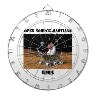 Open Source Martians Inside (Duke Rover) Dartboard With Darts