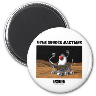 Open Source Martians Inside (Duke & Rover) Refrigerator Magnet