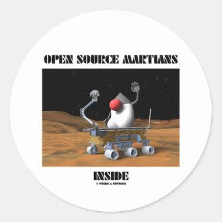 Open Source Martians Inside (Duke & Rover) Round Sticker