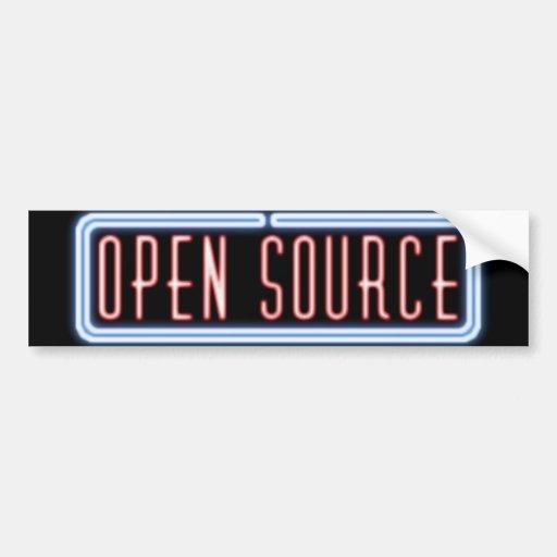 Open Source Neon Sign Bumper Sticker