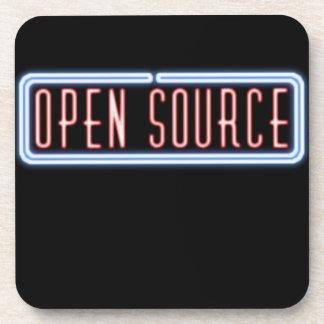 Open Source Neon Sign Cork Coaster