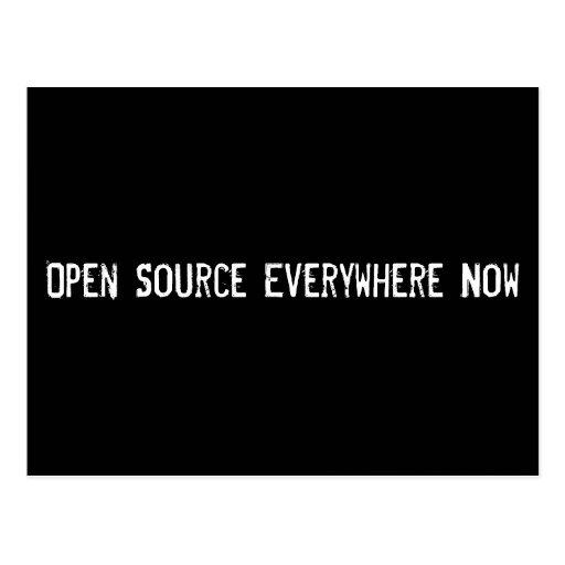 Open Source por todas partes ahora Postales