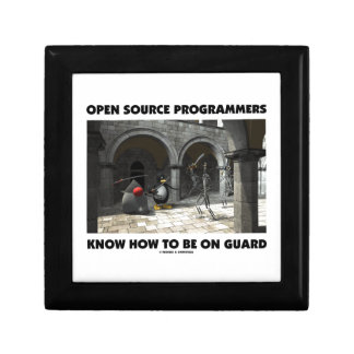 Open Source Programmers Know How To Be On Guard Keepsake Box