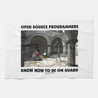 Open Source Programmers Know How To Be On Guard Hand Towel