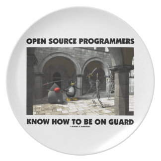 Open Source Programmers Know How To Be On Guard Melamine Plate