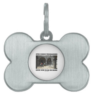 Open Source Programmers Know How To Be On Guard Pet ID Tag