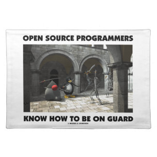 Open Source Programmers Know How To Be On Guard Place Mat