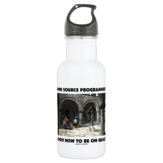 Open Source Programmers Know How To Be On Guard Stainless Steel Water Bottle