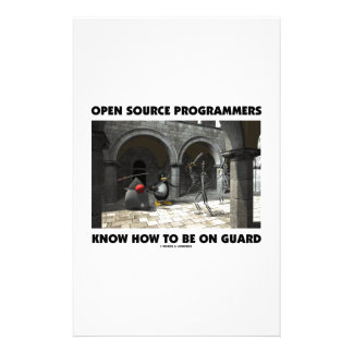 Open Source Programmers Know How To Be On Guard Stationery
