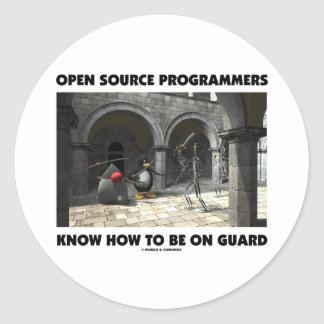 Open Source Programmers Know How To Be On Guard Round Stickers