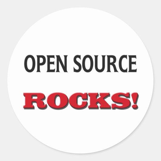 Open Source Rocks Classic Round Sticker