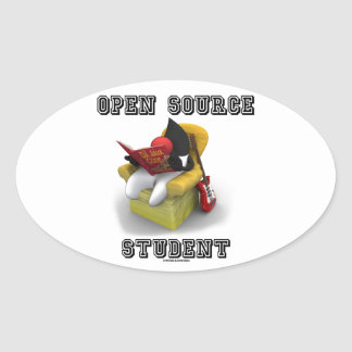 Open Source Student (Duke Java Book Comfy Chair) Oval Sticker