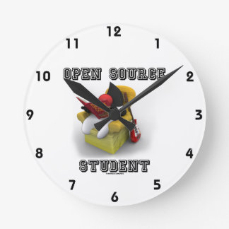 Open Source Student (Duke Java Book Comfy Chair) Round Clock