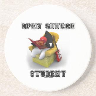 Open Source Student (Duke Java Book Comfy Chair) Sandstone Coaster