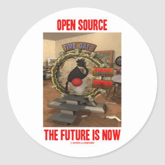 Open Source The Future Is Now (Duke) Round Stickers