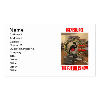 Open Source The Future Is Now (Software Engineer) Business Card Templates