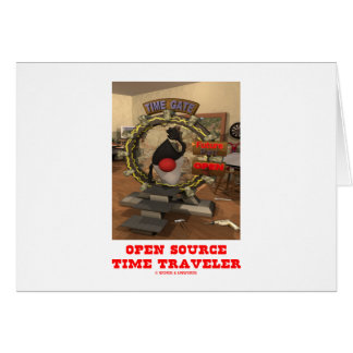 Open Source Time Traveler (Java's Duke) Card