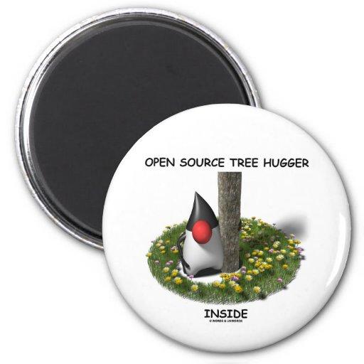 Open Source Tree Hugger Inside (Duke) Fridge Magnet