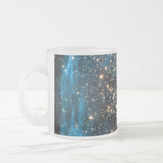 Open Star Cluster NGC 1850 in Dorado Constellation Frosted Glass Coffee Mug