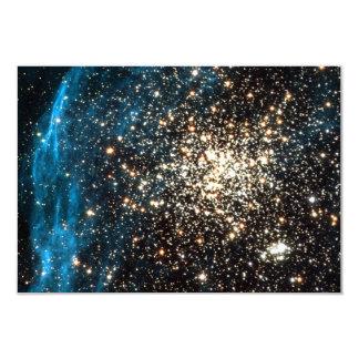 "Open Star Cluster NGC 1850 in Dorado Constellation 3.5"" X 5"" Invitation Card"