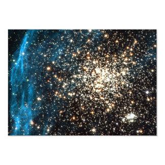 "Open Star Cluster NGC 1850 in Dorado Constellation 5"" X 7"" Invitation Card"