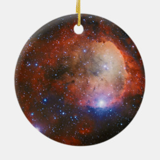 Open Star Cluster NGC 3324 in the Carina Nebula Ceramic Ornament