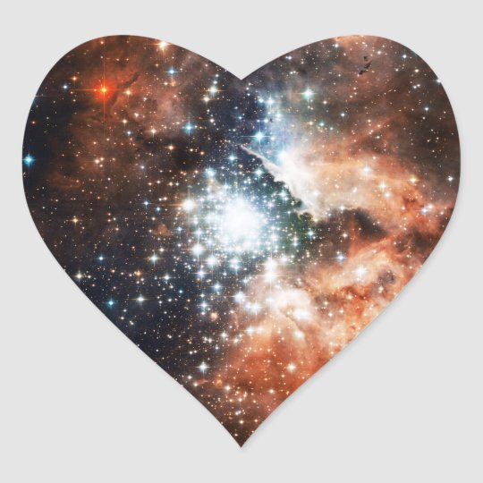 Open Star Cluster NGC 3603 in the Carina Nebula Heart Sticker