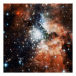 Open Star Cluster NGC 3603 in the Carina Nebula Poster