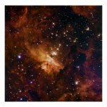 Open Stellar Cluster Pismis 24 NGC 6357 Poster
