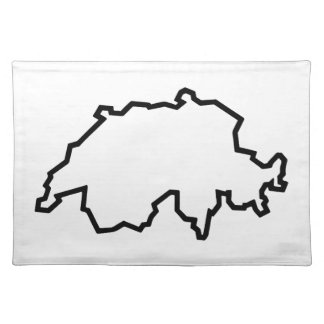 OPEN SWITZERLAND OUTLINE CLOTH PLACEMAT