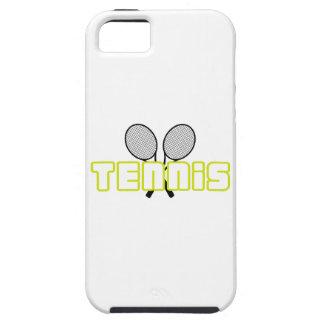 OPEN TENNIS W RAQUETS iPhone 5 CASE