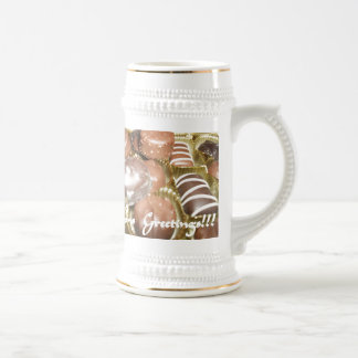 Open The Christmas Chocolates Beer Stein