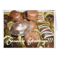 Open The Christmas Chocolates Greeting Cards