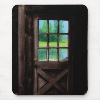 Open the Door to the Outside Mouse Pad