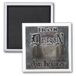 OPEN THE GATES! 2 INCH SQUARE MAGNET