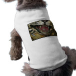 Open tiger mouth grunged image doggie shirt